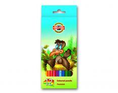 Цветни моливи 12 цвята, серия ПТИЦИ