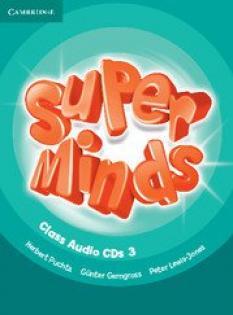 Super Minds Level 3 Class Audio CDs (3) - комплект от 3 диска за ниво 3