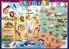 Табло по английски език №3 за 2. клас - Animals