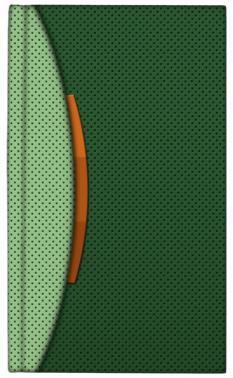 Малък календар - бележник, 112 страници, с дати (зелен)