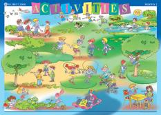 Табло по английски език за 3. клас: Activities