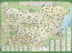 Стенна карта - Защитени растения в България