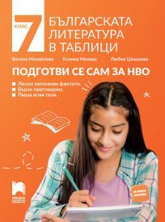 Българската литература в таблици. Подготви се сам за НВО. 7. клас