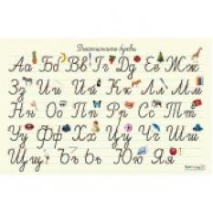 Учебно табло: Ръкописните букви