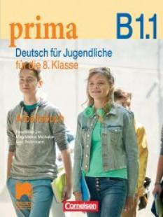 Prima B1.1, тетрадка по немски език за 8. клас
