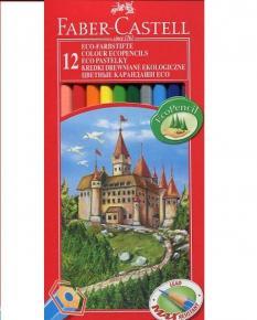 Цветни моливи - 12 цвята, дълги