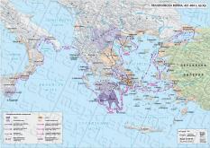 Стенна карта по история: Пелопонеска война, 431-404 г. пр.Хр.