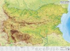 Stenna Prirodogeografska Karta Na Blgariya Datamap
