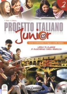 Progetto Italiano Junior 2: учебник + тетрадка + аудио CD