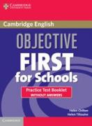 Objective First For Schools Practice Test Booklet without answers (Forth Edition)