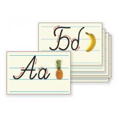 Карти с ръкописни букви - 30 бр. формат А4