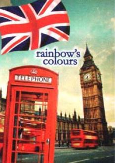 Тетрадка А4 120 л. - 3 теми, колекция Rainbow`s Colours, мека корица, линирана