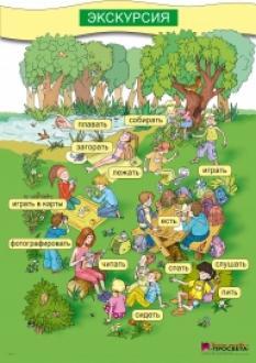 Картинно табло по руски език за 3. и 4. клас - На Пикник