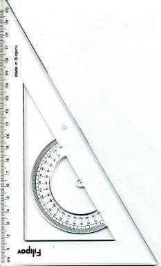 Триъгълник 60 градуса/ 220 мм, прозрачен