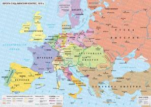 Stenna Karta Evropa Sled Vienskiya Kongres 1815 G Datamap