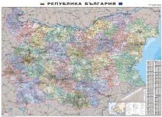 Административна карта на България мащаб 1:400 000