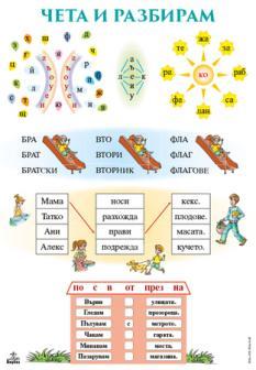Табло №3 по български език и литература 1. клас (Чета и разбирам)