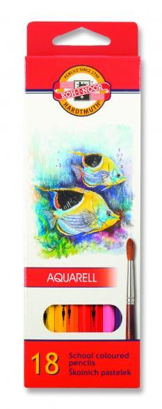 Акварелни цветни моливи 18