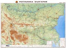 Физическа карта на България - мащаб 1:400 000